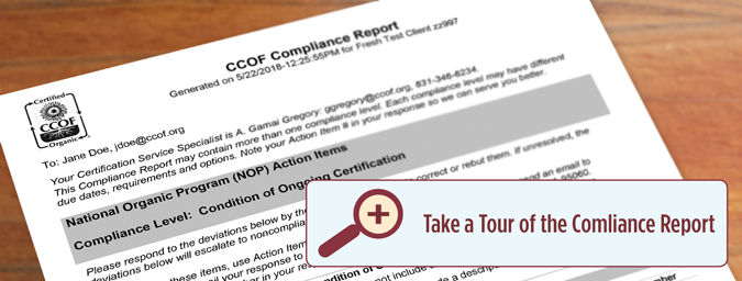 Compliance Report Tour