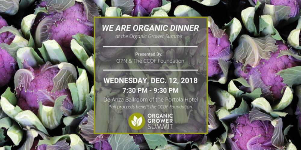 We Are Organic Dinner